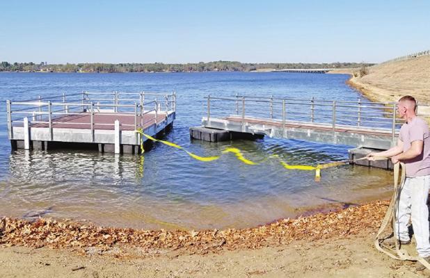 Handicap-Accessible Boat Dock installed at Bob Sandlin